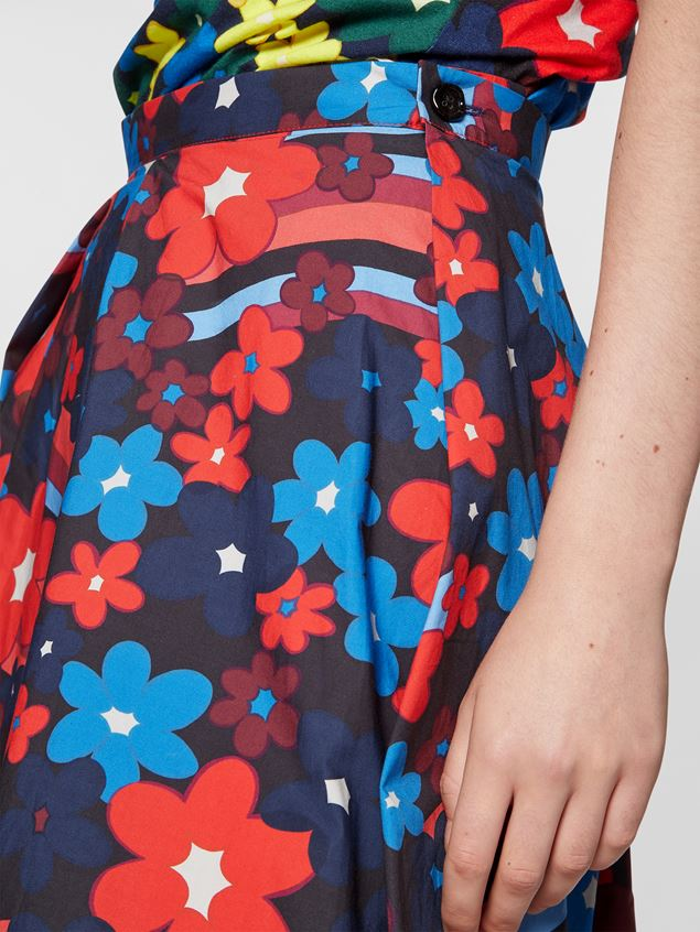 Marni Cotton Pleated Floral Skirt @ Hero Shop