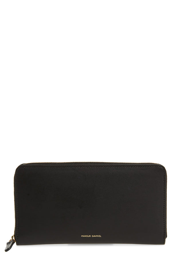 Mansur Gavriel Continental Wallet  - Blue - Flamma - Black @ Hero Shop SF