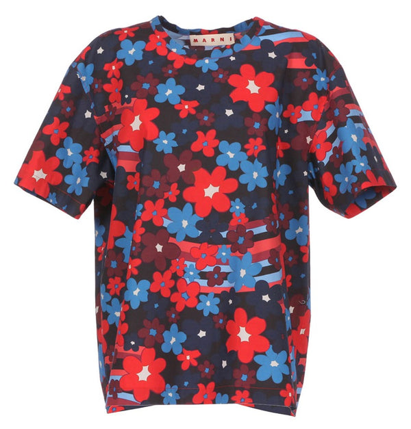 Marni Printed Cotton Floral Shirt @ Hero Shop