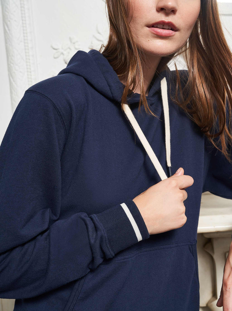 La Ligne Howard Hoodie - Navy @ Hero Shop SF