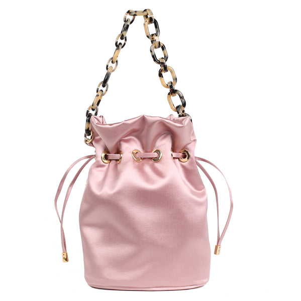 Edie Parker Satin Shorty Bag Pink