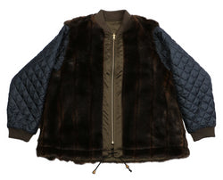 Harvey Faircloth Swing Jacket w/ Faux Fur
