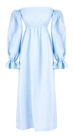Sleeper Atlanta Linen Dress - Baby Blue @ Hero Shop SF