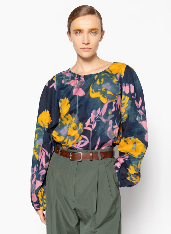 Dries Van Noten Caples Printed Cotton Top @ Hero Shop