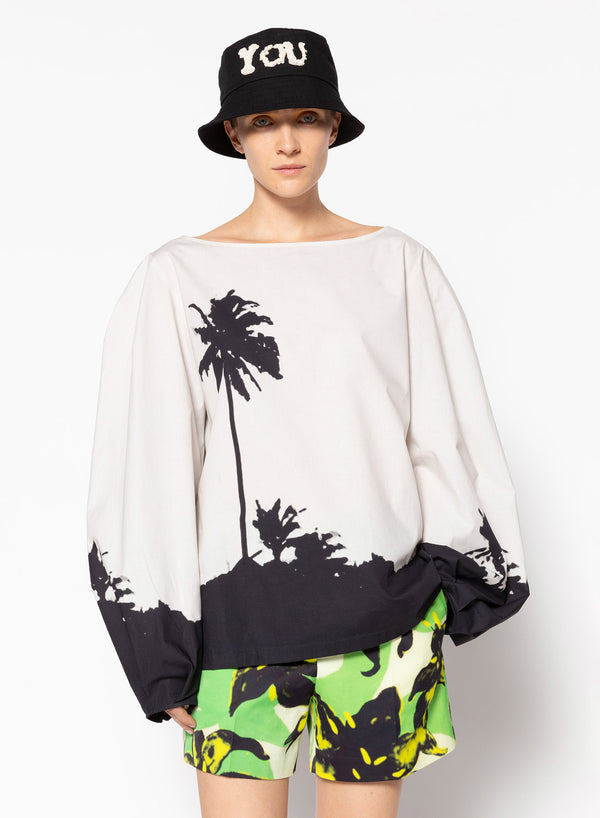 Dries Van Noten Cartely Cotton Palms Top @ Hero Shop