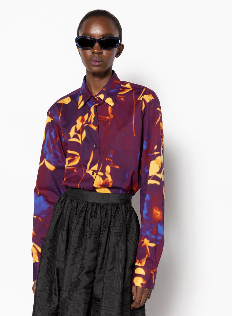 Dries Van Noten Clavelly Printed Cotton Top @ Hero Shop
