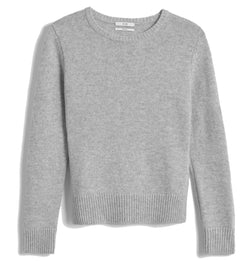 Co. Cashmere Cropped Sweater - Light Grey @ Hero Shop SF