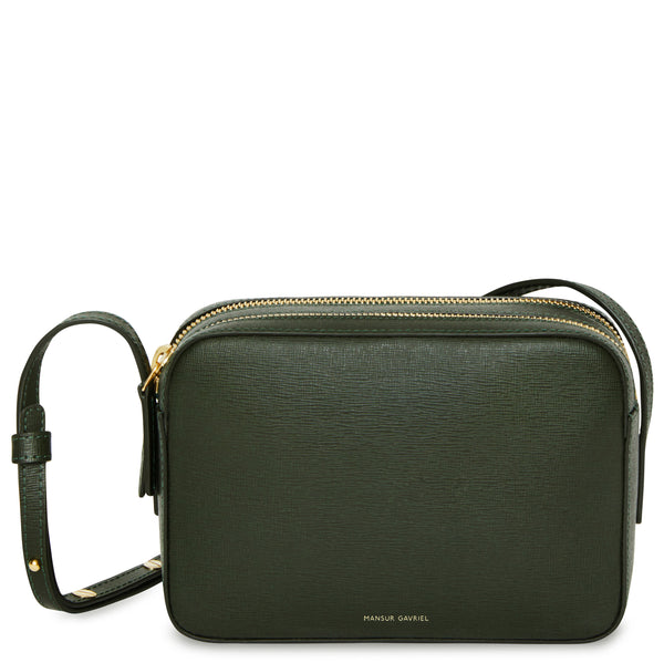 Mansur Gavriel Double Zip Crossbody - Moss