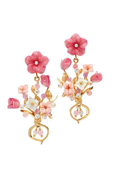 Of Rare Origin Flower Bouquet Earrings
