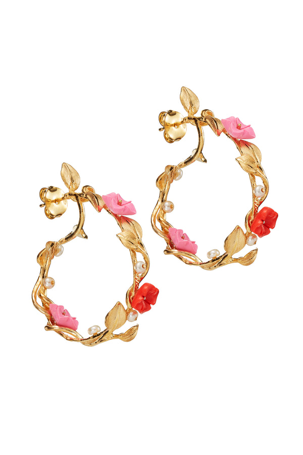 Of Rare Origin Bubblegum Pink Mini Hoop Earrings