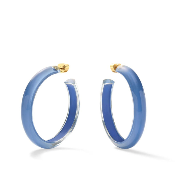 Medium Jelly Hoops - Denim