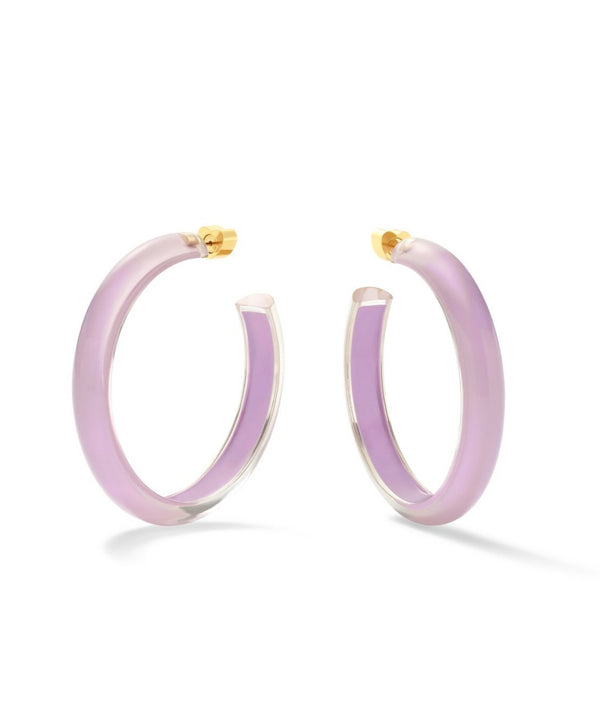 Alison Lou Medium Jelly Hoops - Lavender @ Hero Shop SF