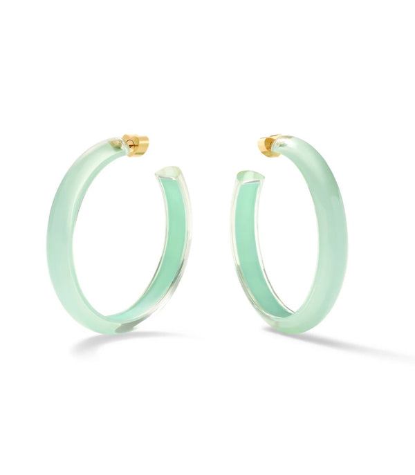 Alison Lou Medium Jelly Hoops - Mint