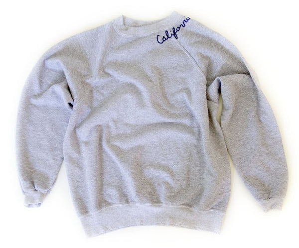 I Stole My Boyfriends Shirt - California Sweatshirt - Grey w/ Blue Emb.