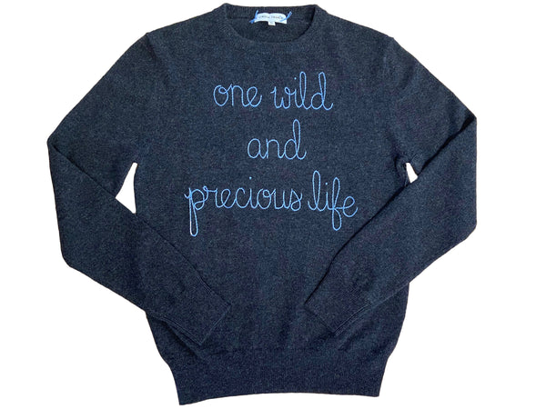 "Lingua Franca ""One Wild and Precious Life"" Crewneck @ Hero Shop"