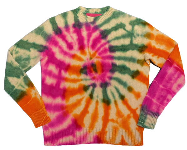 The Elder Statesman Trip Swirl Simple Crew @ Hero Shop