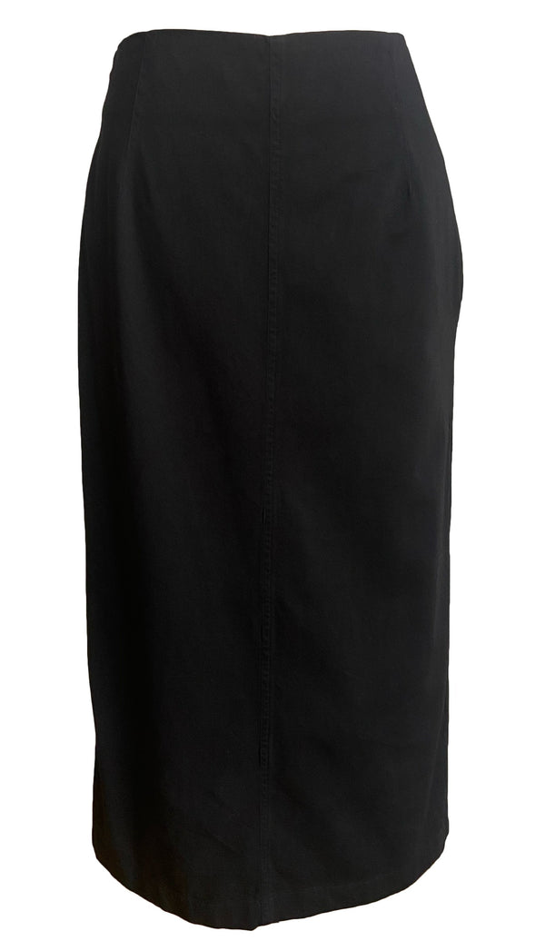 Dries Van Noten Sheelam Cotton Midi Skirt - Black @ Hero Shop