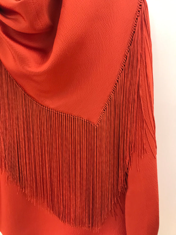 Gabriela Hearst Anderson Scarf Top - Orange @ Hero Shop