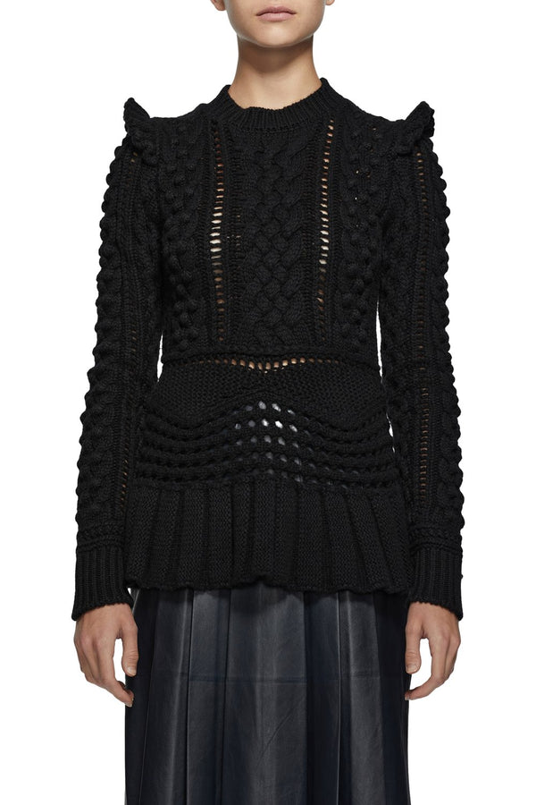 Gabriela Hearst Martha Sweater - Black @ Hero Shop SF
