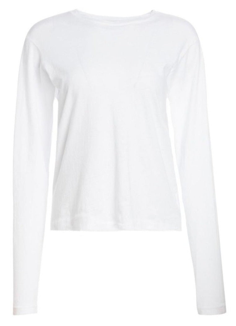 RE/DONE The Long Sleeve Tee - White @ Hero Shop SF