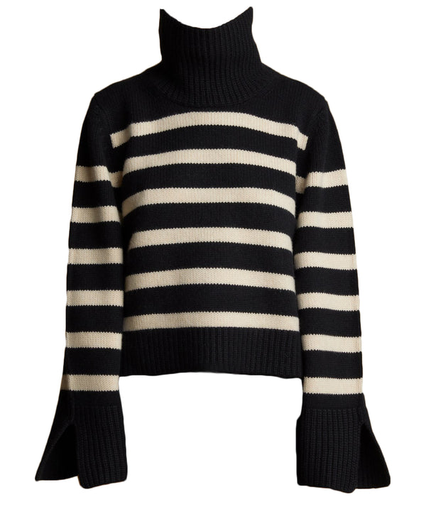 Khaite Marion Sweater - Black / Custard @ Hero Shop
