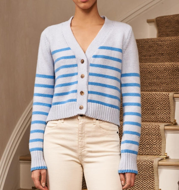 La Ligne Mini Marin Cardigan - Sky @ Hero Shop SF