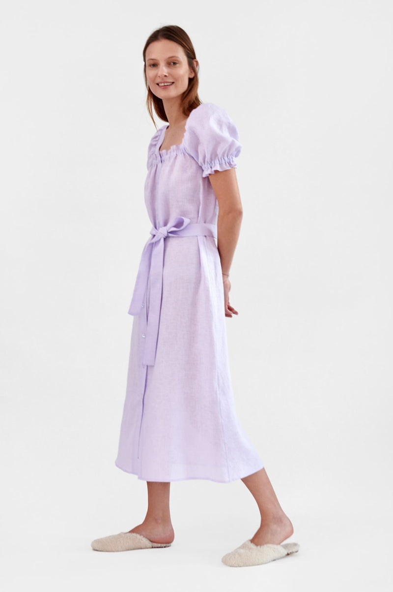 Sleeper Brigitte Linen Maxi Dress - Lavender @ Hero Shop SF