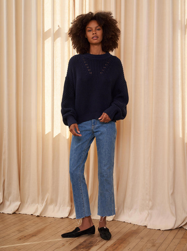 La Ligne Normandy Sweater Navy @ Hero Shop