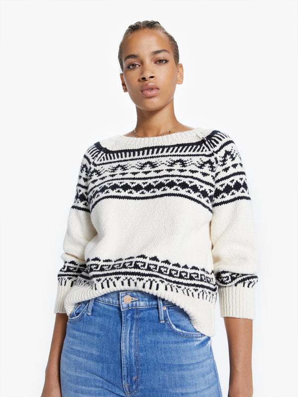 Mother Denim The Boat Square Jumper - Off Script