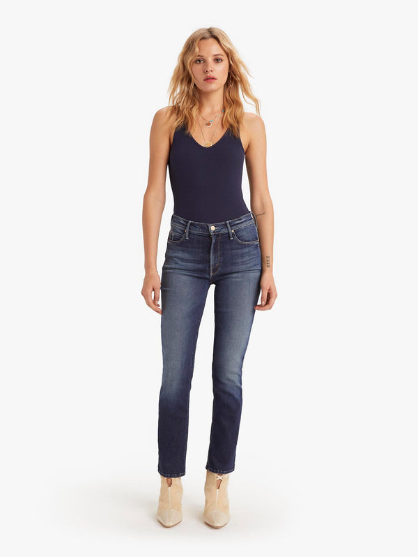 Mother Denim Mid-Rise Dazzler Ankle - On the Edge