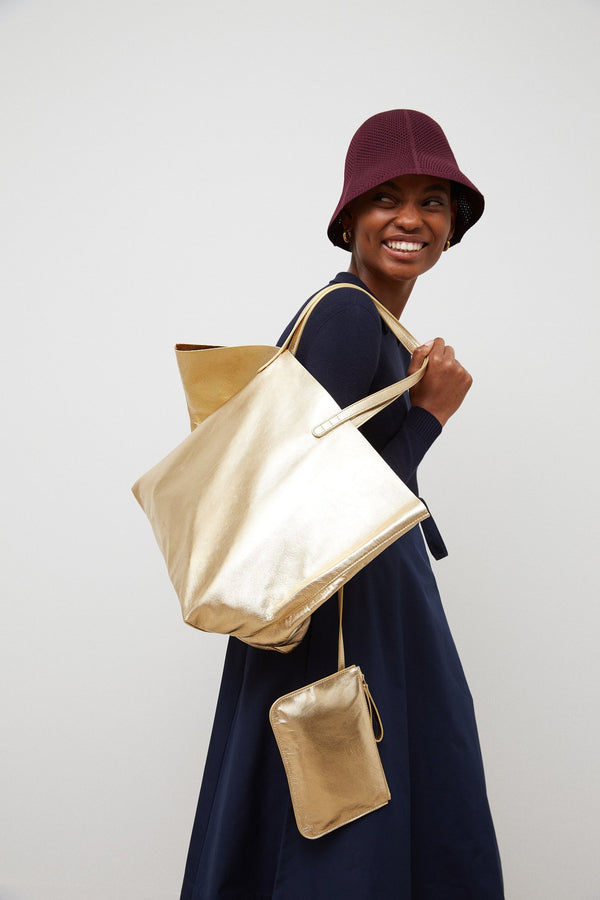 Oversized Tote - Gold