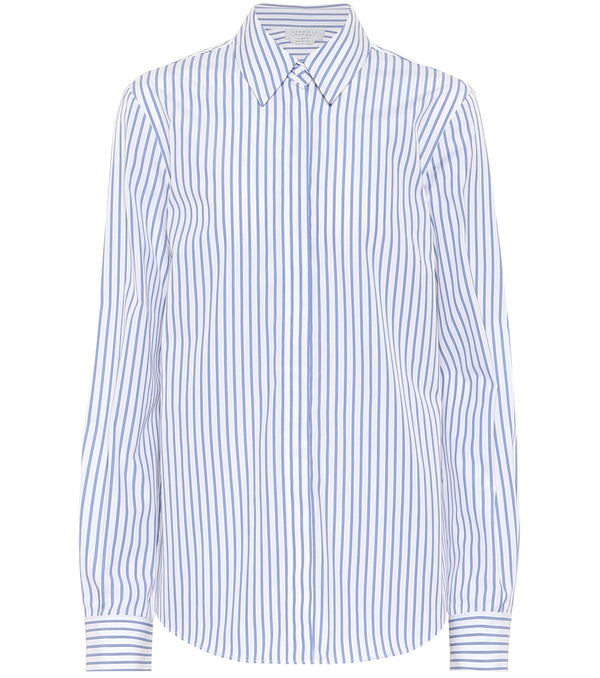 Gabriela Hearst Henri Blouse in Blue Stripes @ Hero Shop SF
