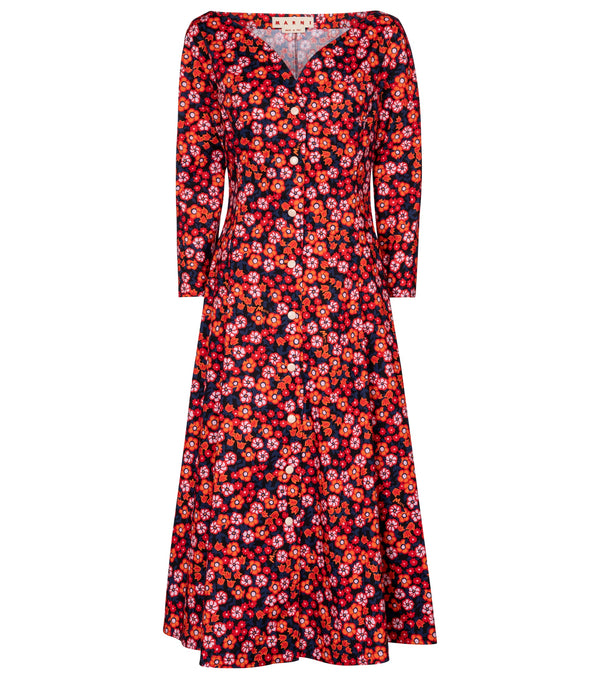 Marni Button Front Poplin Dress @ Hero Shop