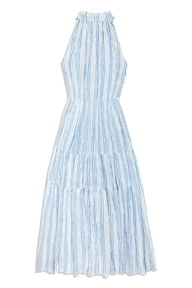 Apiece Apart Nissi Tiers Dress - Adriatic Stripe @ Hero Shop SF