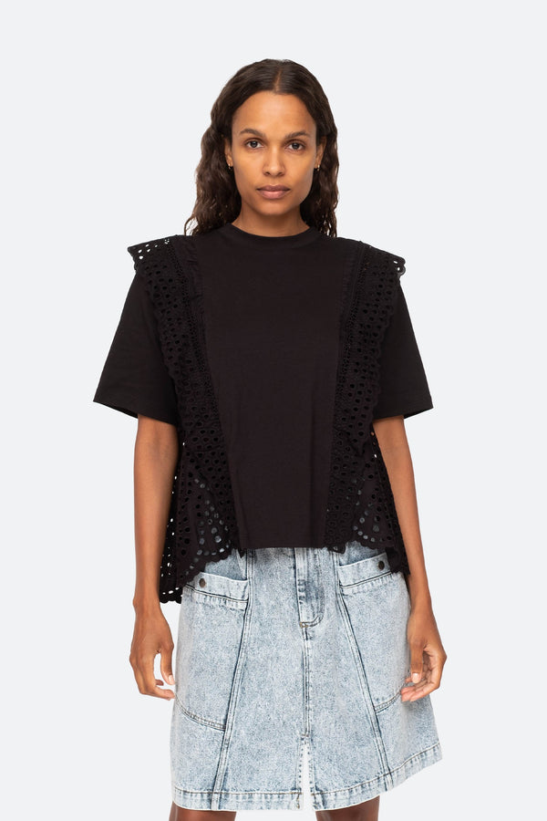 Sea NY Zane Eyelet T-Shirt @ Hero Shop
