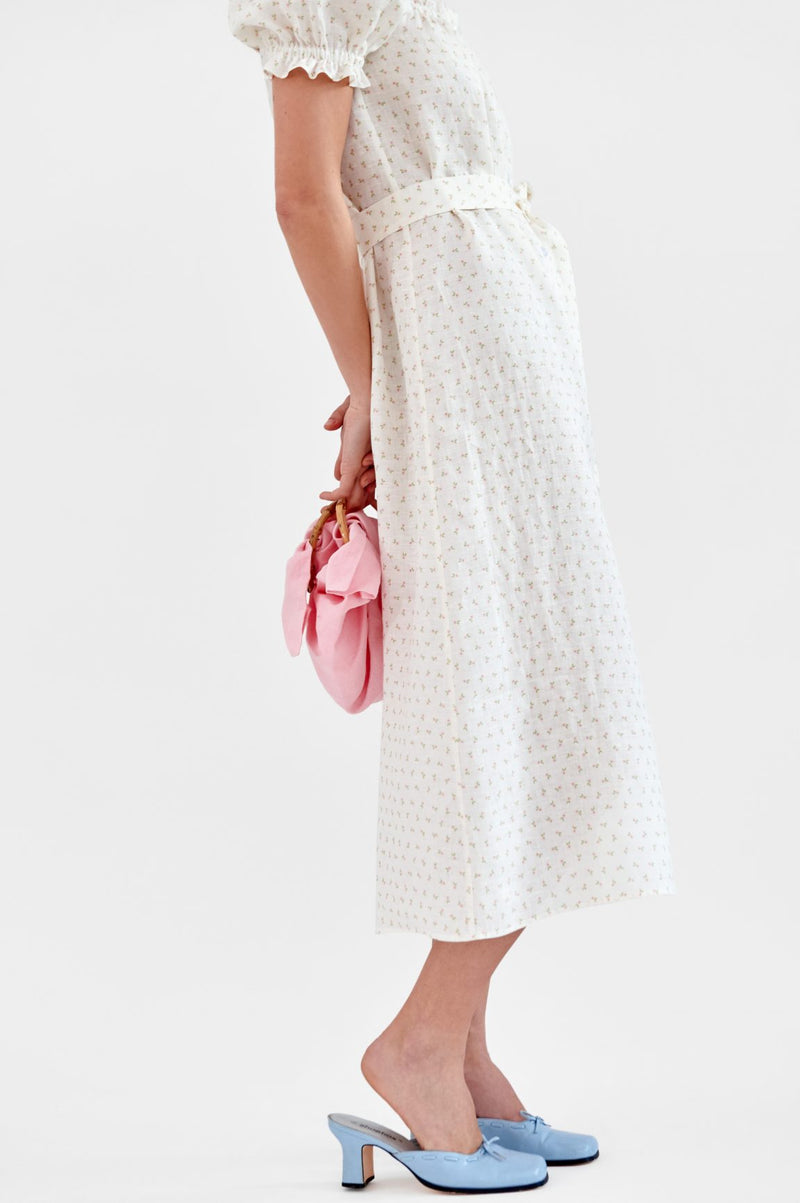 Sleeper Brigitte Linen Maxi Dress - Garden Rose @ Hero Shop SF