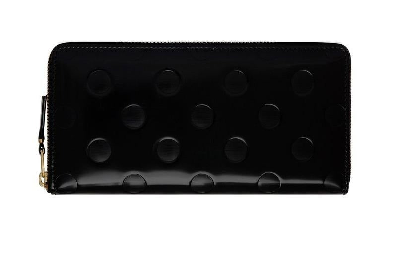 Comme De Garcons Embossed Dots Leather Wallet @ Hero Shop
