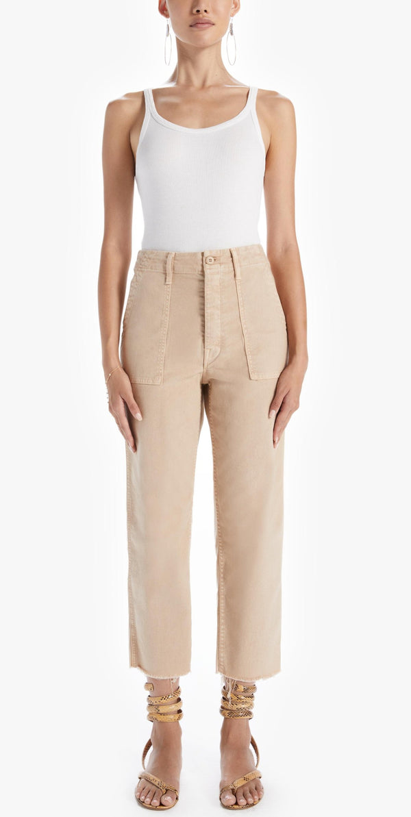Mother Denim Patch Pocket Private Ankle - Khaki @ Hero Shop