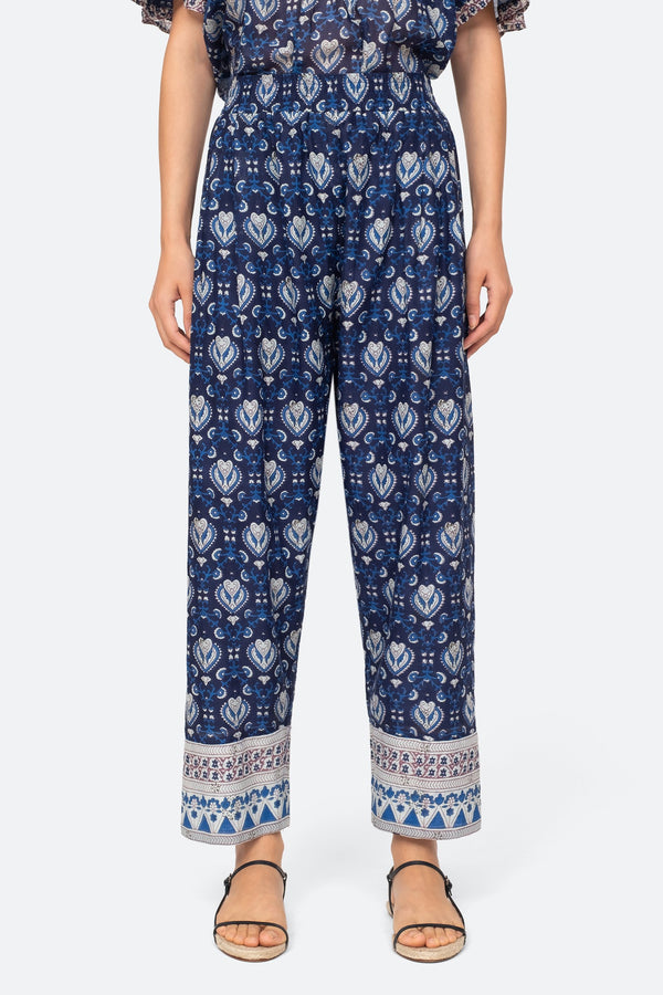 Sea NY Brigitte Border Pants - Navy @ Hero Shop