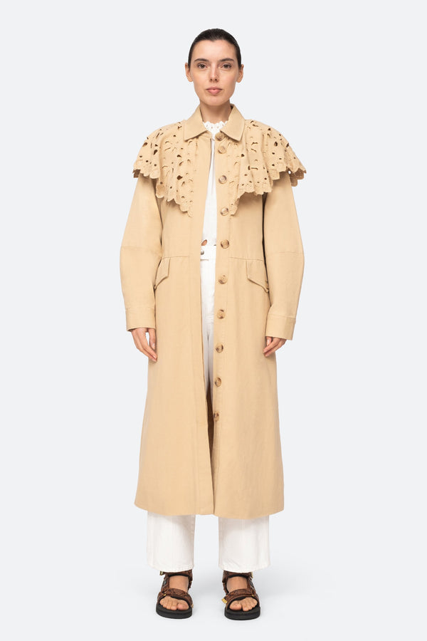 Sea NY Hazel Eyelet Trench Coat @ Hero Shop