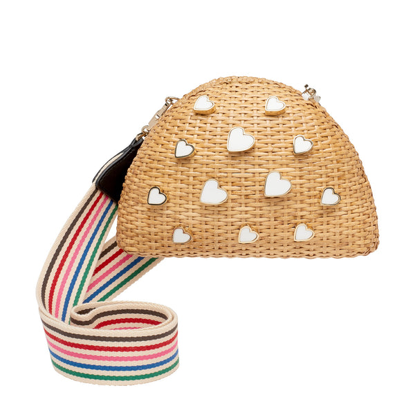 Wicker Heart Bag