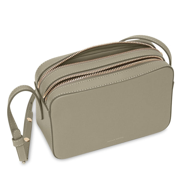 Double Zip Crossbody - Elefante