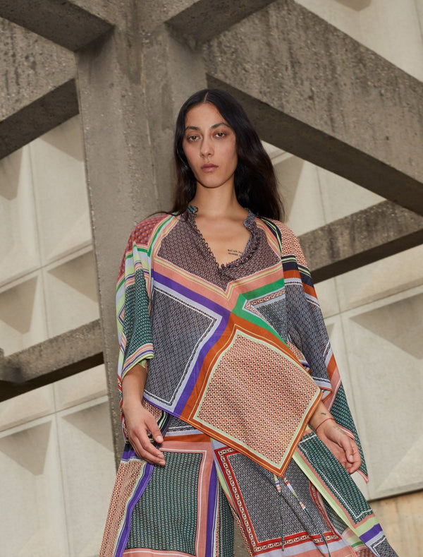 Rosetta Getty Bias Scarf Top - Multi @ Hero Shop SF