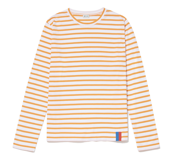 Kule The Modern Long - White & Orange Shirt