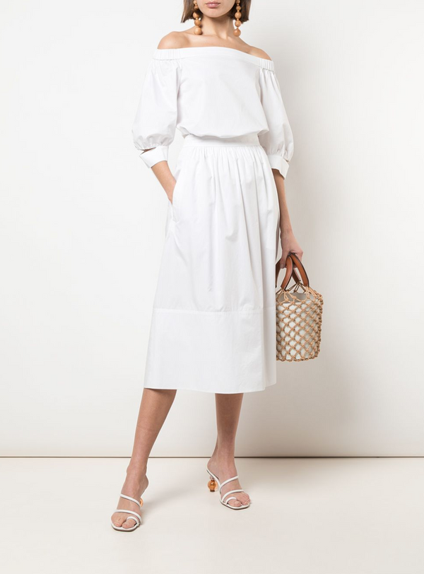 Tibi Poplin Full Skirt