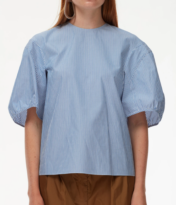 Tibi Balloon Sleeve Crewneck Top @ Hero Shop SF