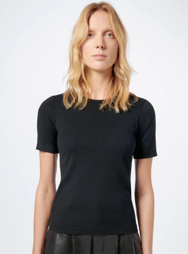 RE/DONE Black 70's Slim Tee
