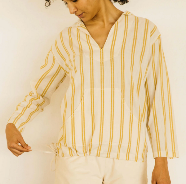 Mollusk Surf Shop Baja Pullover - Yellow Stripe  @ Hero Shop SF