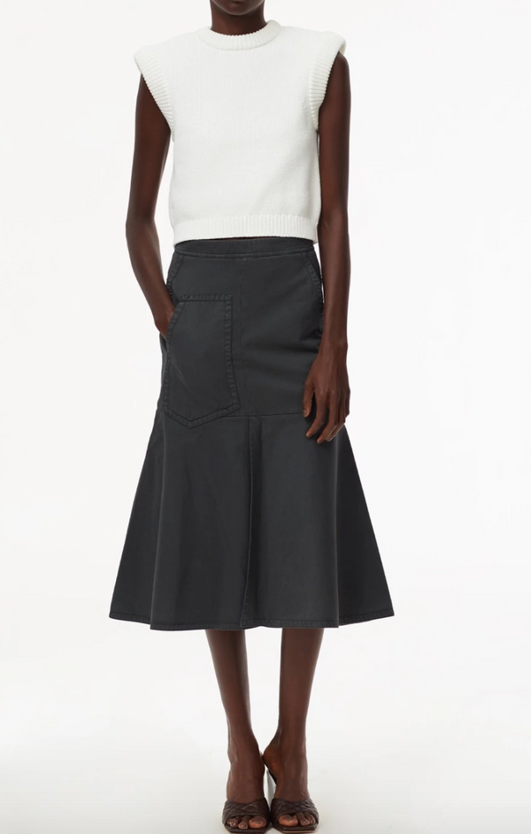 Tibi Front Slit Long Skirt - Storm Gray @ Hero Shop SF