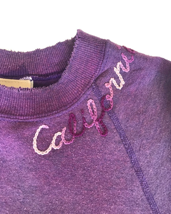 I Stole My Boyfriends Shirt - California Sweatshirt - Violet @ Hero Shop SF